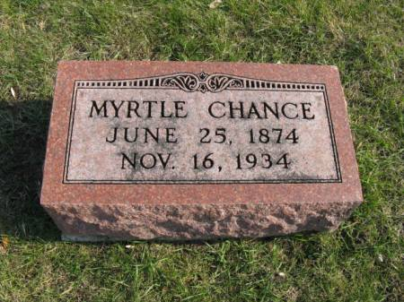 CHANCE, MYRTLE - Story County, Iowa | MYRTLE CHANCE