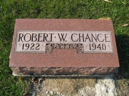 CHANCE, ROBERT W - Story County, Iowa   ROBERT W CHANCE