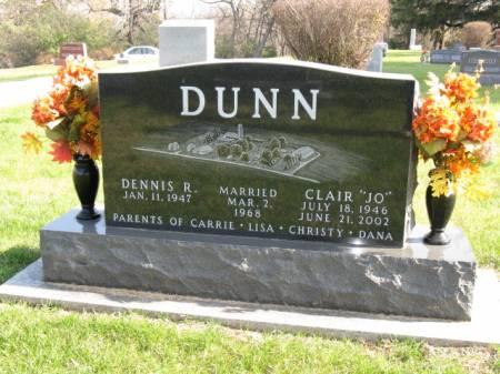 DUNN, CLAIR 'JO' - Story County, Iowa   CLAIR 'JO' DUNN