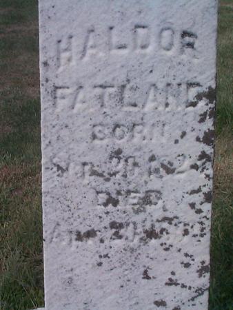 FATLAND, HALDOR - Story County, Iowa | HALDOR FATLAND