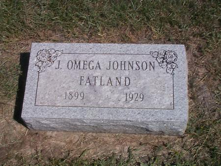 FATLAND, J. OMEGA JOHNSON - Story County, Iowa | J. OMEGA JOHNSON FATLAND