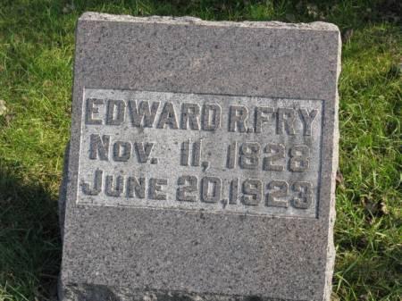 FRY, EDWARD R - Story County, Iowa   EDWARD R FRY