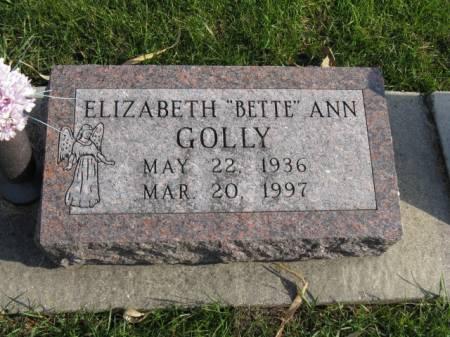 GOLLY, ELIZABETH ANN - Story County, Iowa   ELIZABETH ANN GOLLY
