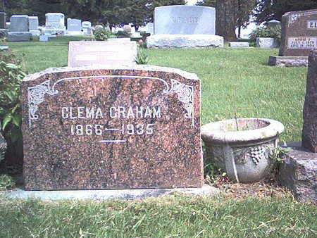 WELLEVER GRAHAM, CLEMA (CLEMENTINE) - Story County, Iowa | CLEMA (CLEMENTINE) WELLEVER GRAHAM
