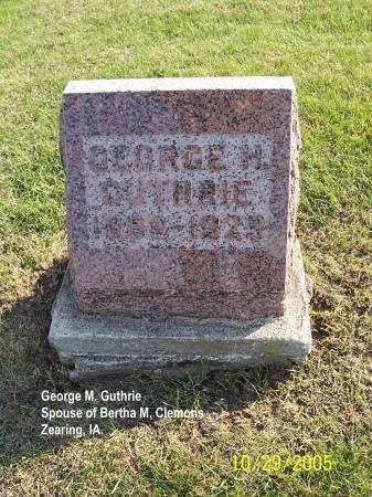 GUTHRIE, GEORGE - Story County, Iowa   GEORGE GUTHRIE