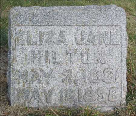 HILTON, ELIZA JANE - Story County, Iowa   ELIZA JANE HILTON