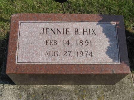 HIX, JENNIE B - Story County, Iowa   JENNIE B HIX