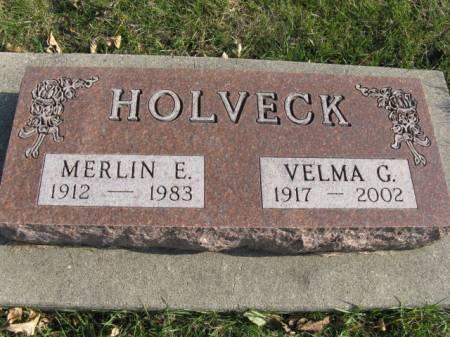 HOLVECK, VELMA G - Story County, Iowa   VELMA G HOLVECK