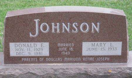 JOHNSON, DONALD E. - Story County, Iowa | DONALD E. JOHNSON