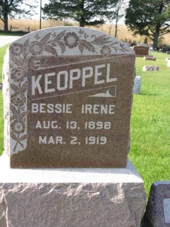 KEOPPEL, BESSIE IRENE - Story County, Iowa | BESSIE IRENE KEOPPEL