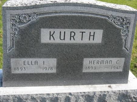 KURTH, HERMAN C - Story County, Iowa   HERMAN C KURTH