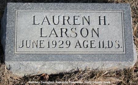 LARSON, LAUREN H. - Story County, Iowa | LAUREN H. LARSON