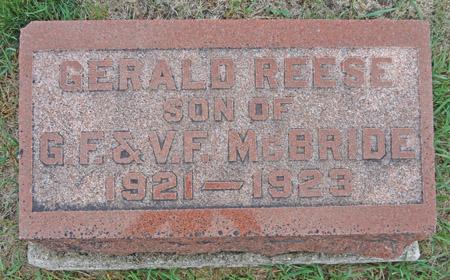 MCBRIDE, GERALD REESE - Story County, Iowa | GERALD REESE MCBRIDE