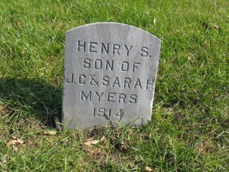 MYERS, HENRY S - Story County, Iowa   HENRY S MYERS
