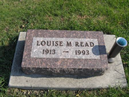 READ, LOUISE M - Story County, Iowa | LOUISE M READ