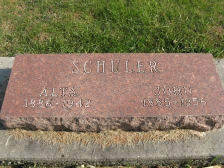 SCHULER, ALTA - Story County, Iowa | ALTA SCHULER