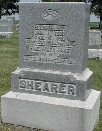 SHEARER, ELIZABETH JANE - Story County, Iowa | ELIZABETH JANE SHEARER
