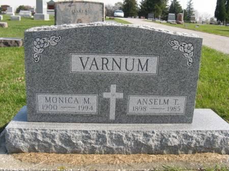 VARNUM, ANSELM T - Story County, Iowa   ANSELM T VARNUM