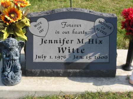 HIX WITTE, JENNIFER MARIE - Story County, Iowa | JENNIFER MARIE HIX WITTE