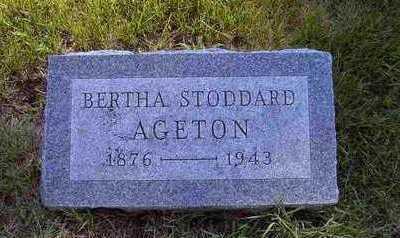 AGETON, BERTHA E - Tama County, Iowa | BERTHA E AGETON