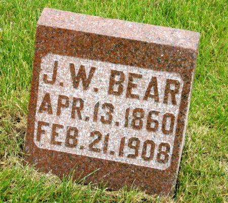 BEAR, JOHN W - Tama County, Iowa | JOHN W BEAR
