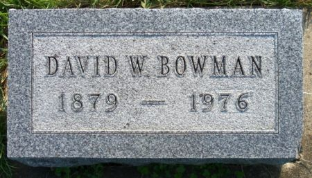 BOWMAN, DAVID - Tama County, Iowa   DAVID BOWMAN