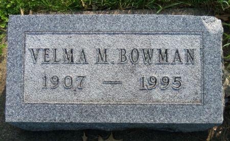 BOWMAN, VELMA - Tama County, Iowa | VELMA BOWMAN