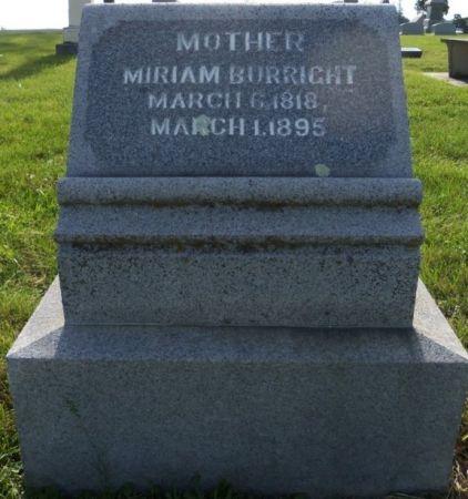 BURRIGHT, MIRIAM - Tama County, Iowa | MIRIAM BURRIGHT