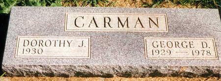 CARMAN, GEORGE D. - Tama County, Iowa | GEORGE D. CARMAN