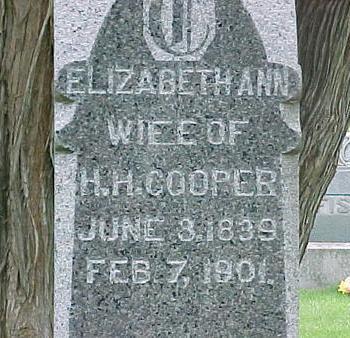 COOPER, ELIZABETH ANN - Tama County, Iowa | ELIZABETH ANN COOPER