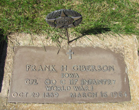GIBERSON, FRANK H. - Tama County, Iowa | FRANK H. GIBERSON