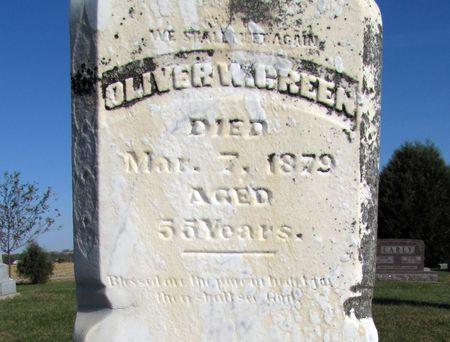 GREEN, OLIVER W. - Tama County, Iowa | OLIVER W. GREEN