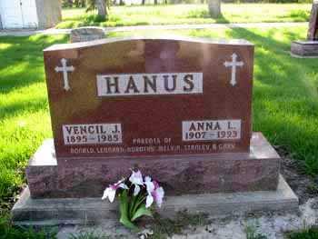 HANUS, ANNA L - Tama County, Iowa   ANNA L HANUS