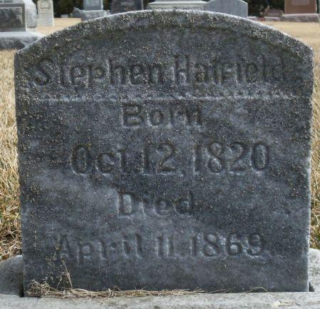 HATFIELD, STEPHEN - Tama County, Iowa   STEPHEN HATFIELD