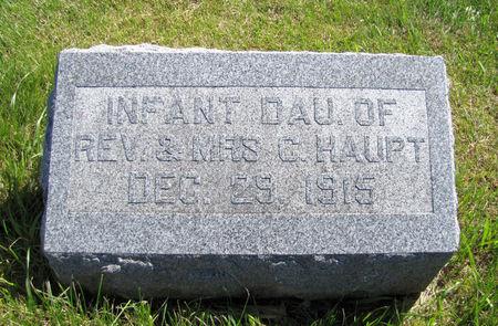 HAUPT, INFANT DAUGHTER - Tama County, Iowa | INFANT DAUGHTER HAUPT