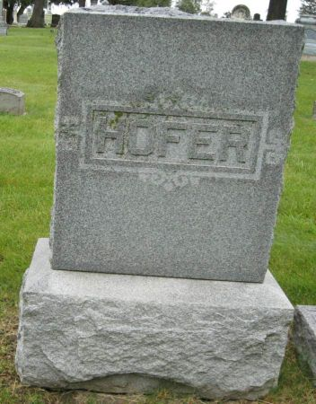 HOFER FAMILY, FREDERICK - Tama County, Iowa | FREDERICK HOFER FAMILY