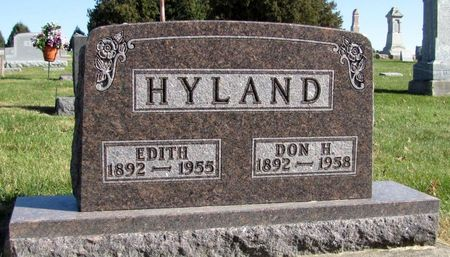 HYLAND, EDITH - Tama County, Iowa | EDITH HYLAND