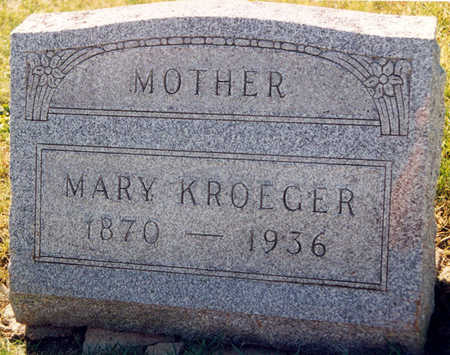 REHDER KROEGER, MARY - Tama County, Iowa | MARY REHDER KROEGER