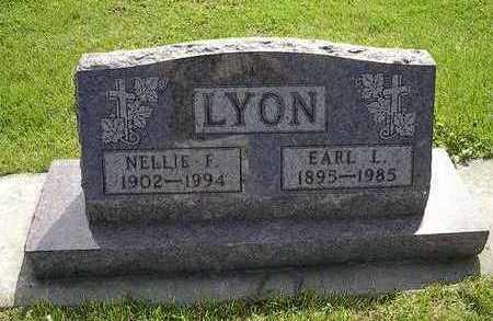 LYON, NELLIE F. - Tama County, Iowa   NELLIE F. LYON