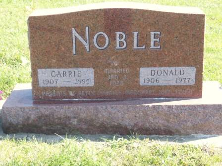 NOBLE, CARRIE - Tama County, Iowa | CARRIE NOBLE