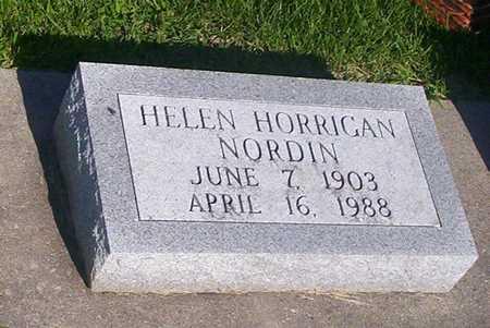 HORRIGAN NORDIN, HELEN - Tama County, Iowa | HELEN HORRIGAN NORDIN