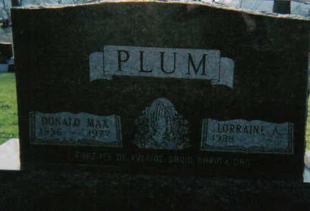 PLUM, DONALD MAX - Tama County, Iowa   DONALD MAX PLUM