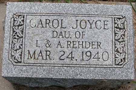 REHDER, CAROL JOYCE - Tama County, Iowa   CAROL JOYCE REHDER