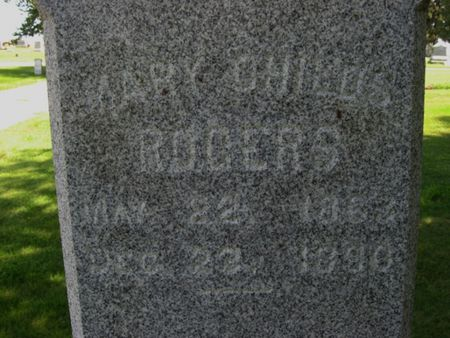 CHILDS ROGERS, MARY - Tama County, Iowa | MARY CHILDS ROGERS