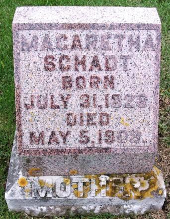 SCHADT, MAGARETHA - Tama County, Iowa | MAGARETHA SCHADT