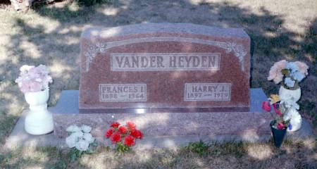 VABDERHEYDEN, FRANCIS IRENE - Tama County, Iowa | FRANCIS IRENE VABDERHEYDEN