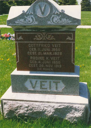 VEIT, GOTTFRIED - Tama County, Iowa | GOTTFRIED VEIT