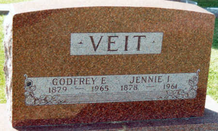 VEIT, JENNIE I. - Tama County, Iowa   JENNIE I. VEIT