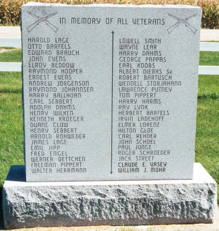VETERANS MONUMENT, NO.1, BACK - Tama County, Iowa | NO.1, BACK VETERANS MONUMENT