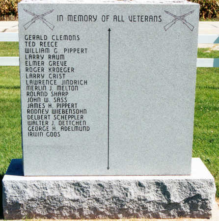 VETERANS MONUMENT, NO. 2, BACK - Tama County, Iowa | NO. 2, BACK VETERANS MONUMENT